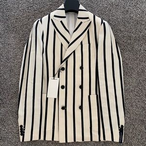 NWT Scotch & Soda black and white double breasted